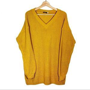 Boohoo Mustard Long sleeve Sweater